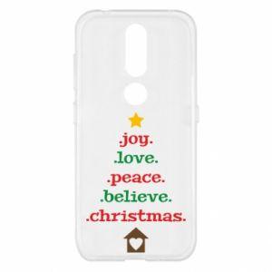 Etui na Nokia 4.2 Joy. Love. Peace. Believe. Christmas.