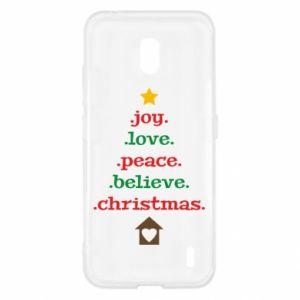 Etui na Nokia 2.2 Joy. Love. Peace. Believe. Christmas.