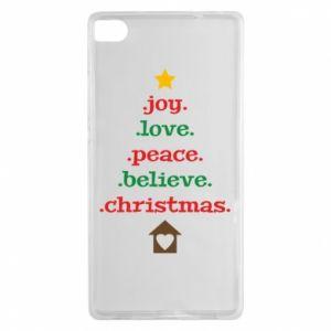 Etui na Huawei P8 Joy. Love. Peace. Believe. Christmas.