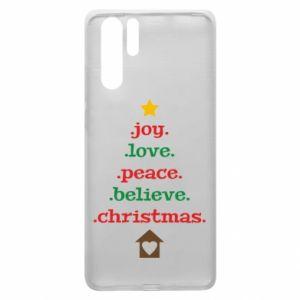 Etui na Huawei P30 Pro Joy. Love. Peace. Believe. Christmas.