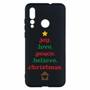 Etui na Huawei Nova 4 Joy. Love. Peace. Believe. Christmas.