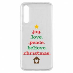 Etui na Huawei P20 Pro Joy. Love. Peace. Believe. Christmas.