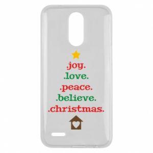 Etui na Lg K10 2017 Joy. Love. Peace. Believe. Christmas.