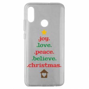 Etui na Huawei Honor 10 Lite Joy. Love. Peace. Believe. Christmas.