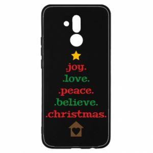 Etui na Huawei Mate 20 Lite Joy. Love. Peace. Believe. Christmas.