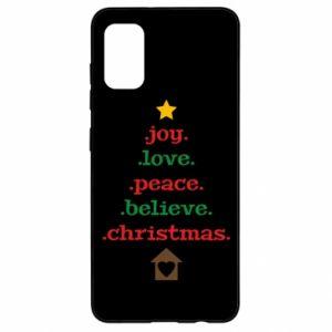 Etui na Samsung A41 Joy. Love. Peace. Believe. Christmas.