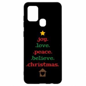 Etui na Samsung A21s Joy. Love. Peace. Believe. Christmas.