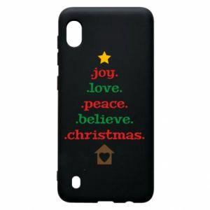 Etui na Samsung A10 Joy. Love. Peace. Believe. Christmas.