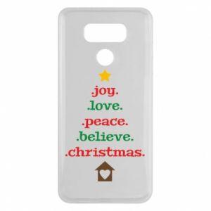 Etui na LG G6 Joy. Love. Peace. Believe. Christmas.