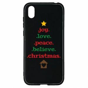Etui na Huawei Y5 2019 Joy. Love. Peace. Believe. Christmas.