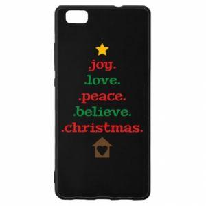 Etui na Huawei P 8 Lite Joy. Love. Peace. Believe. Christmas.