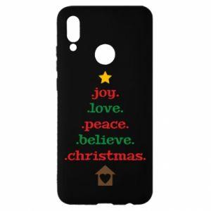 Etui na Huawei P Smart 2019 Joy. Love. Peace. Believe. Christmas.