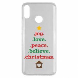 Etui na Huawei Y9 2019 Joy. Love. Peace. Believe. Christmas.