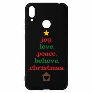 Etui na Huawei Y7 2019 Joy. Love. Peace. Believe. Christmas.