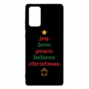 Etui na Samsung Note 20 Joy. Love. Peace. Believe. Christmas.