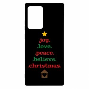 Etui na Samsung Note 20 Ultra Joy. Love. Peace. Believe. Christmas.