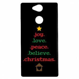 Etui na Sony Xperia XA2 Joy. Love. Peace. Believe. Christmas.