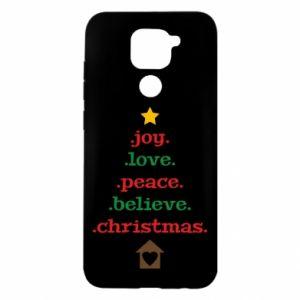 Etui na Xiaomi Redmi Note 9/Redmi 10X Joy. Love. Peace. Believe. Christmas.