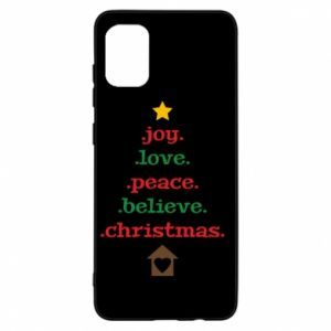 Etui na Samsung A31 Joy. Love. Peace. Believe. Christmas.