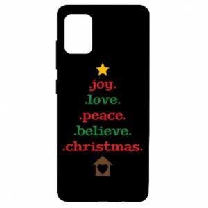 Etui na Samsung A51 Joy. Love. Peace. Believe. Christmas.