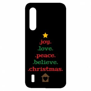 Etui na Xiaomi Mi9 Lite Joy. Love. Peace. Believe. Christmas.
