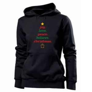 Bluza damska Joy. Love. Peace. Believe. Christmas.