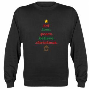 Bluza Joy. Love. Peace. Believe. Christmas.