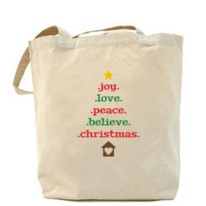 Torba Joy. Love. Peace. Believe. Christmas.