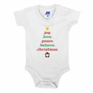 Body dziecięce Joy. Love. Peace. Believe. Christmas.