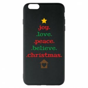 Etui na iPhone 6 Plus/6S Plus Joy. Love. Peace. Believe. Christmas.