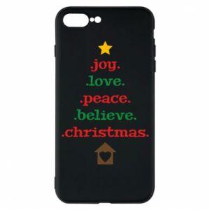 Etui do iPhone 7 Plus Joy. Love. Peace. Believe. Christmas.