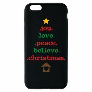 Etui na iPhone 6/6S Joy. Love. Peace. Believe. Christmas.
