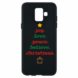 Etui na Samsung A6 2018 Joy. Love. Peace. Believe. Christmas.