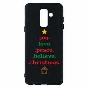 Etui na Samsung A6+ 2018 Joy. Love. Peace. Believe. Christmas.
