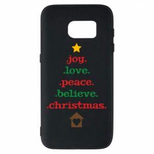 Etui na Samsung S7 Joy. Love. Peace. Believe. Christmas.