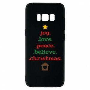 Etui na Samsung S8 Joy. Love. Peace. Believe. Christmas.