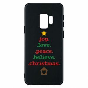 Etui na Samsung S9 Joy. Love. Peace. Believe. Christmas.