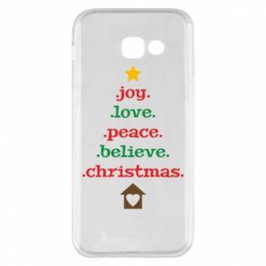 Etui na Samsung A5 2017 Joy. Love. Peace. Believe. Christmas.