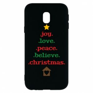 Etui na Samsung J3 2017 Joy. Love. Peace. Believe. Christmas.