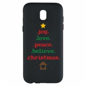 Etui na Samsung J5 2017 Joy. Love. Peace. Believe. Christmas.