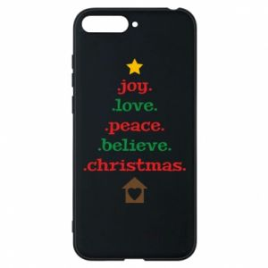 Etui na Huawei Y6 2018 Joy. Love. Peace. Believe. Christmas.