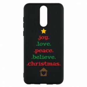 Etui na Huawei Mate 10 Lite Joy. Love. Peace. Believe. Christmas.