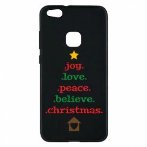 Etui na Huawei P10 Lite Joy. Love. Peace. Believe. Christmas.