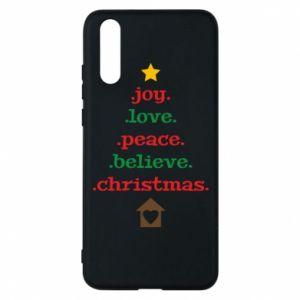 Etui na Huawei P20 Joy. Love. Peace. Believe. Christmas.