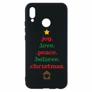 Etui na Huawei P20 Lite Joy. Love. Peace. Believe. Christmas.