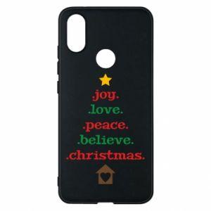 Etui na Xiaomi Mi A2 Joy. Love. Peace. Believe. Christmas.