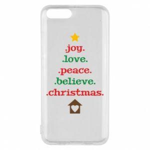 Etui na Xiaomi Mi6 Joy. Love. Peace. Believe. Christmas.