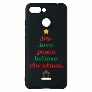 Etui na Xiaomi Redmi 6 Joy. Love. Peace. Believe. Christmas.