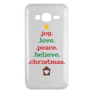 Etui na Samsung J3 2016 Joy. Love. Peace. Believe. Christmas.