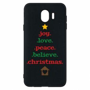 Etui na Samsung J4 Joy. Love. Peace. Believe. Christmas.